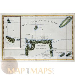 Queen Charlottes Islands map (Haida Gwaii) by Hogg 1773   MAPandMAPS