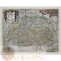 Switzerland Helvetia Antique map by Merian 1638