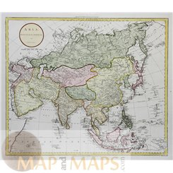 Asia drawn from the best Authorities Old map John Russell 1795
