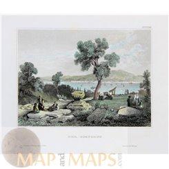 The Bosporus Antique Print Turkey 1850