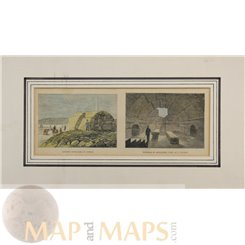 A Cyprus Ancient Sepulcher in Cyprus Old print 1878