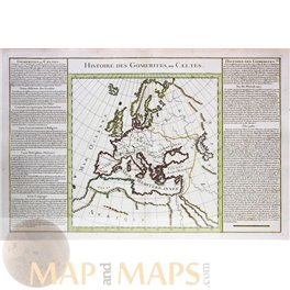 Europe History of the Celts old map de Mornas 1762