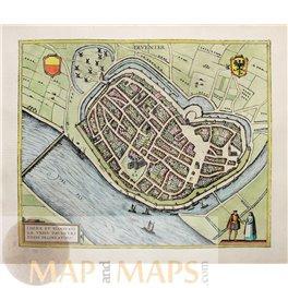 Deventer Liberae et Hanseaticae Braun & Hogenberg 1588.