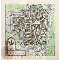Ypres Ieper Hypra Fandriarum Towns of Europe Braun & Hogenberg 1597.