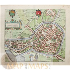 Bergen op Zoom Städte Europas Berga von Braun & Hogenberg 1588