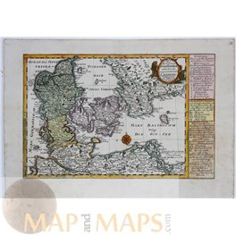 Kingdom Denmark Copenhagen antique map Schreibern 1796