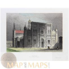 Italy Prints, Certosa di Pavia in Lombardy by Meyer 1852