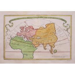 VETERIS ORBIS CLIMATA EX STRABONE old map Cellarius1796