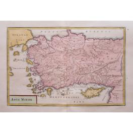 Asia Minor Constantinople Ottoman old map Cellarius1796