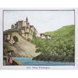 Castle Stein Ellbogen Tsjechië old print 1830