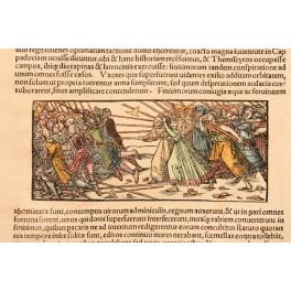 AMONGST WOMEN Famous Women woodcut Seb. Munster 1550