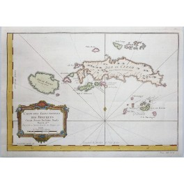 Indonesia Moluccas Islands old antique map by Bellin 1749