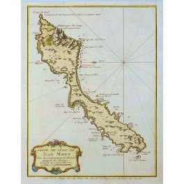 Norway Jan Mayen Island old antique map chart by Bellin 1758