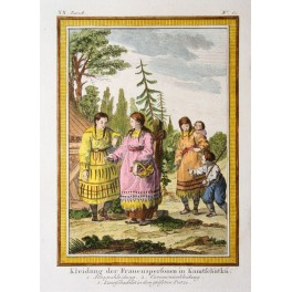 Kamchatka Russian women antique print 1750
