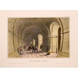 THE THAMES TUNNEL, Fine original antique print 1850