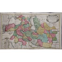 Antike Karte von Persien, Regnvm Persicvm, Iran, Irak, Türkei, Armenien, von Ottens c. 1730