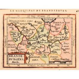 Brandenburg Germany antique map Abraham Ortelius 1612