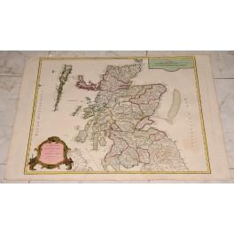 1751 Großer Atlas Karte Schottland und Inseln von Vaugondy westlichen Inseln von Schottland Sky Island Pentland Firth