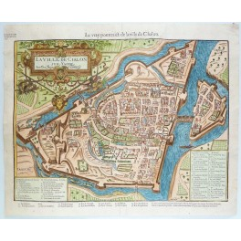 ille de Chalon-sur-Saône Woodcut taken from the Cosmography of Munster 1573