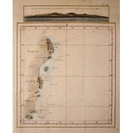 Captain Cook Cote du Japon, Japan antique chart 1774