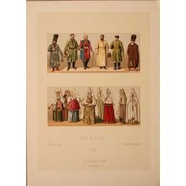 RUSSIA COSTUME 1860 antique print Firmin Didot et Cie