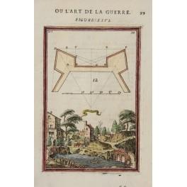 Plan Gelkint antique print, Allain Manesson Mallet 1683