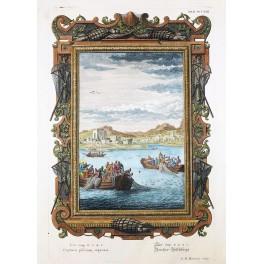 Lake of Galilee Luke 5:4-7 Jesus and Luke antique print 1780