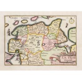 Germany East Frisia Emden Oldenburg antique map by Tassin 1633