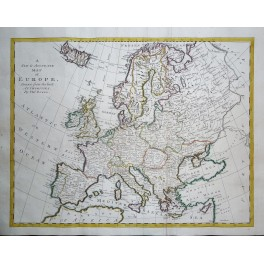 Europe shows Turkey and Great Poland in Europe old map Bowen 1745.