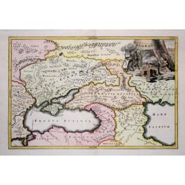Sarmatia Iran Caucasus history Classical Antiquity old map Cellarius 1731