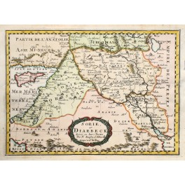 SORIE et DIARBECK SYRIA LEBANON CYPRUS ANTIQUE MAP BY SANSON ABBERVILLE 1662.