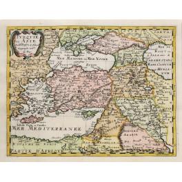 OTTOMAN EMPIRE ANTIQUE MAP BY SANSON ABBERVILLE 1662.