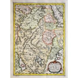 AFRICA - ETHIOPIA - SUDAN - NUBIA - ORIGINAL MAP - SANSON ABBERVILLE 1662.