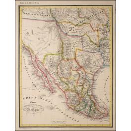 America Mexico Texas Vera Cruz original old map Heck 1842
