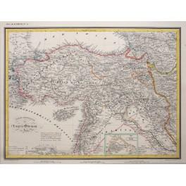 Ottoman Empire Turkey Mecca Cyprus original historical old map Heck 1842