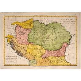 ROMAN PROVINCES - OLD MAP BALKANS -BY BONNE 1787