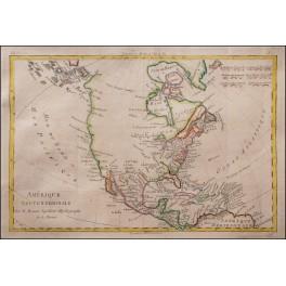 NORTH AMERICA - OLD MAP - BONNE 1780
