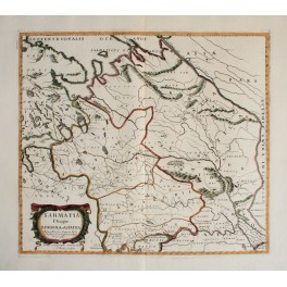ANTIQUE MAP-ROMAN EMPIRE-SARMATIA-OLD MAP SANSON 1694
