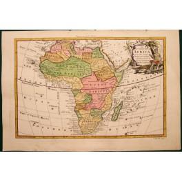 1768 Große antiken Karte von Afrika für Drakes Voyages.