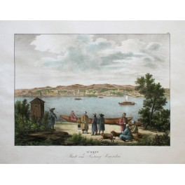 CASTLE OF SEMENDRIA ON THE DANUBE SERBIA OLD OTTOMAN PRINT 1830