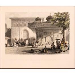Constantinople, Ottoman period antique print Istanbul 1839