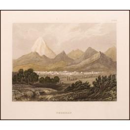 Tehran - Teheran - Old Persian antique print 1850