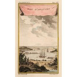 Bay D Awatcha Greenland-Russia Old print Prevost 1770