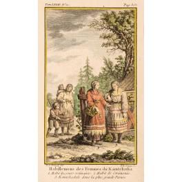 Women of Kamchatka Russia Old print Prevost 1770