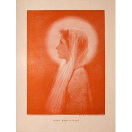 St. Agnes Virgin of Rome antique print 1896