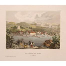 CROATIA HUNGARY BATTINA DANUBE RIVER ANTIQUE PRINT MEYER 18381004125413