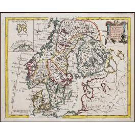 Scandinavia, Spitsbergen Original antique map by De La Porte 1776