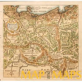 Germany Poland early map by Cluver Bertius 1661