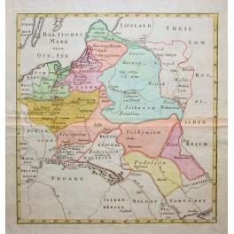 Polen, Lettland, Slowakei, Litauen Moldawien von Weigel 1790