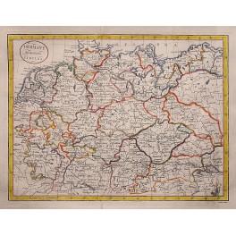 Deutschland in seiner Kreise aufgeteilt, Kitchin antiken Karte 1780